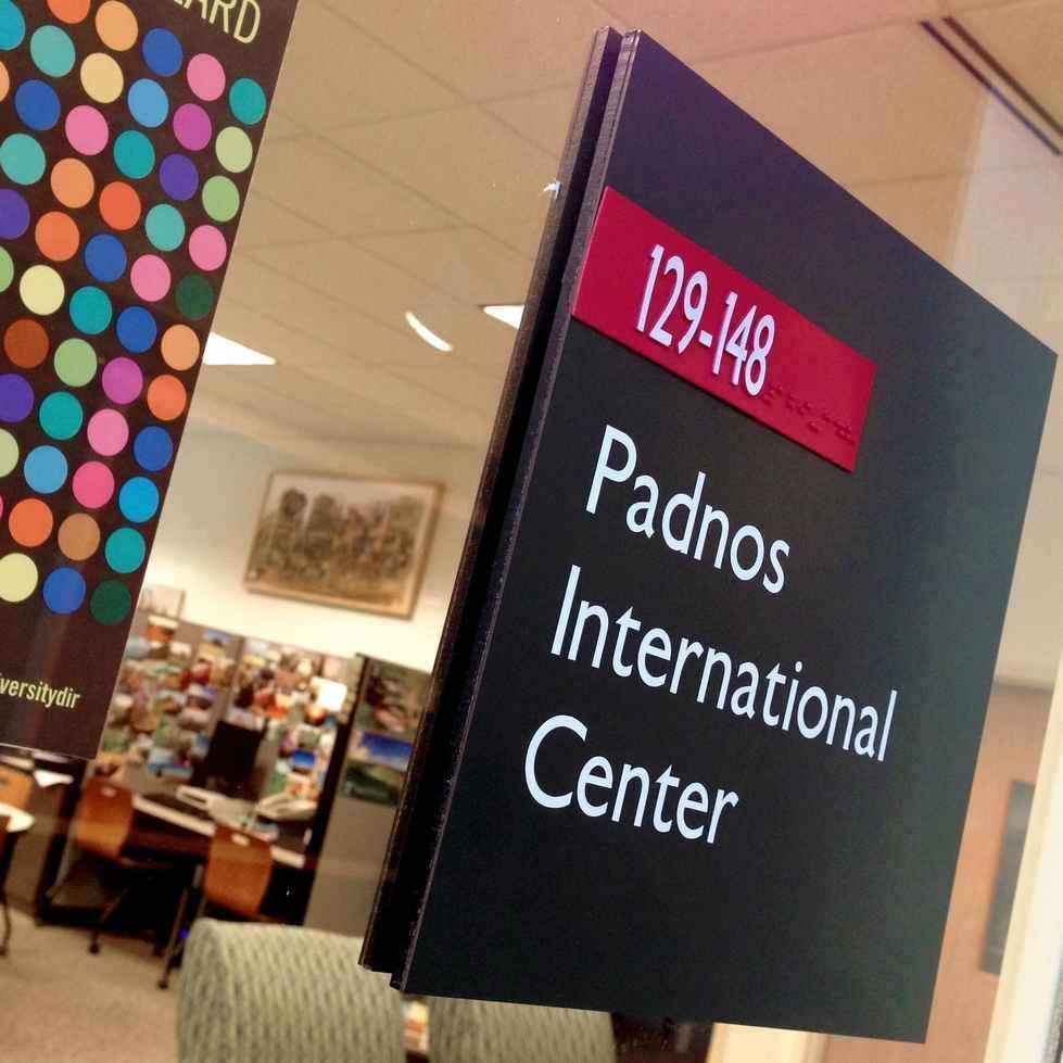 Doorsign for Padnos International Center